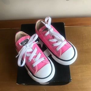 Pink Toddler Converse Sneakers